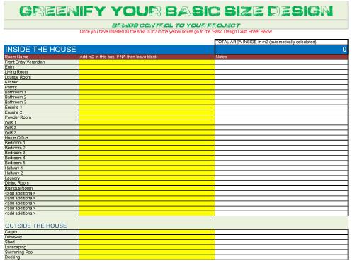 Basic Size Design Calculator